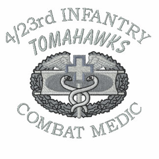 4/23rd Inf. Combat Medical Badge Embroidered Shirt