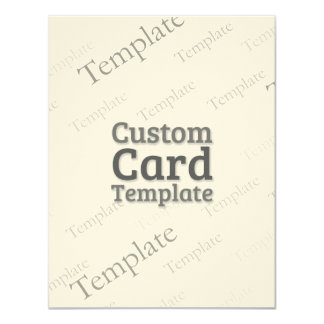 "4.25"" x 5.5"" Felt Cream Invitation Custom Template 4.25"" X 5.5"" Invitation Card"