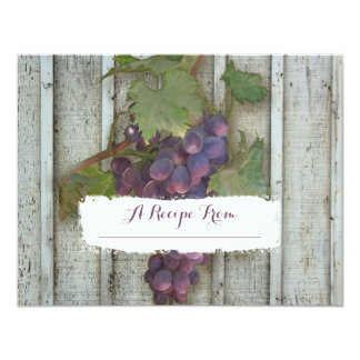 4.25x5.5 Paper Recipe Cards Bridal Shower Vineyard 11 Cm X 14 Cm Invitation Card