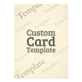 """4.5 x 6.25"""" Laid Ivory Invitation Custom Template"""