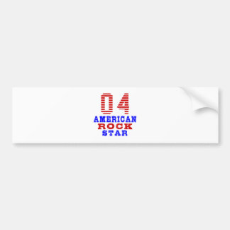 4 American rock star Bumper Sticker