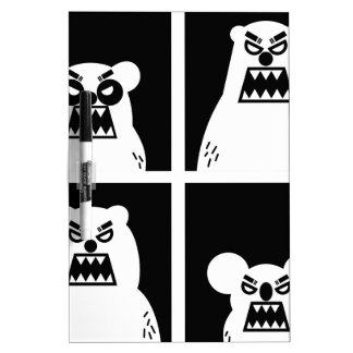 4 Angry Bears Dry-Erase Boards