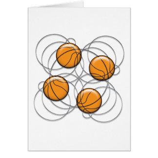4 Basketball Pattern - 3D Greeting Card