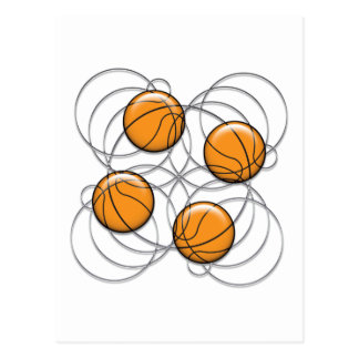 4 Basketball Pattern - 3D Postcard