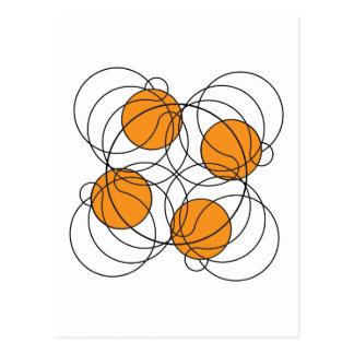 4 Basketball Pattern - 3D Postcard