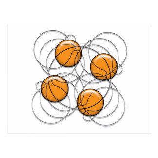 4 Basketball Pattern - 3D Post Cards