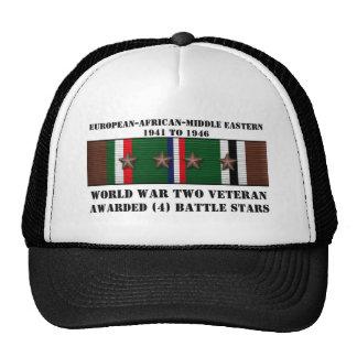 4 BATTLE STARS / WORLD WAR II VETERAN CAP
