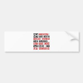 4 Birthday Designs Bumper Sticker
