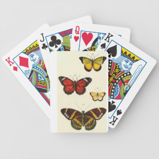 4 butterflies bicycle playing cards