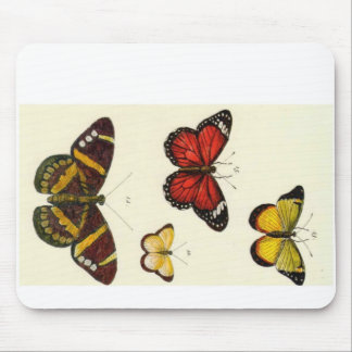 4 butterflies mouse pad