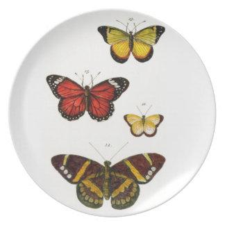 4 butterflies party plates