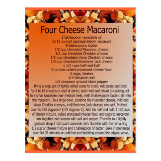 4 cheese mac postcard
