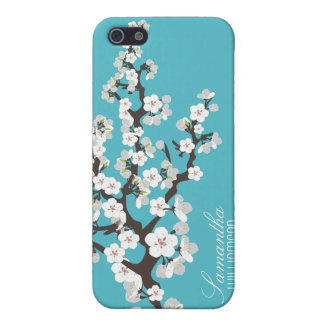 4 Cherry Blossom (aqua) iPhone 5 Cover