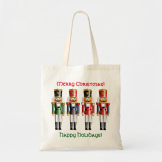 4 Christmas Nutcracker Toy Soldiers Tote Bag