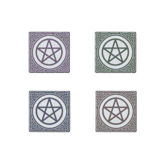 4 Color Celtic Pentacle Stone Magnet