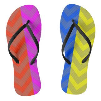 4 colour miss match thongs