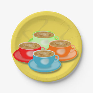 4 Cups Of Coffee Paper Plates