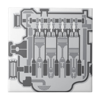 4 cylinder engine vector tile