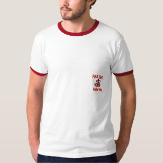4 DEAD Horseshoes Ringer T-Shirt