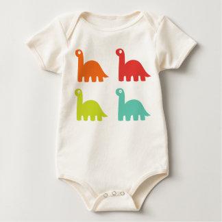 4 Dinosaurs Baby Bodysuit