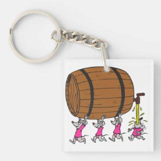 4 Drunk Mice Key Ring