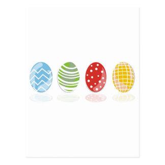 4 easter eggs postcard