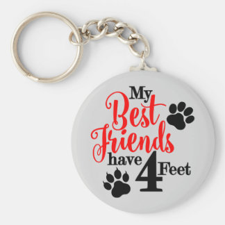 4 Feet Best Friends Key Ring