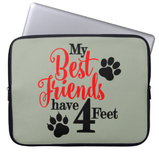 4 Feet Best Friends Laptop Sleeve