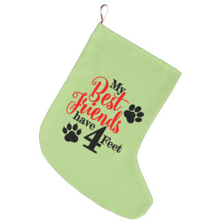 4 Feet Best Friends Large Christmas Stocking