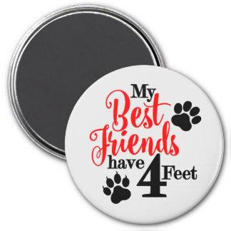 4 Feet Best Friends Magnet