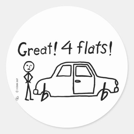 4 Flats Sticker