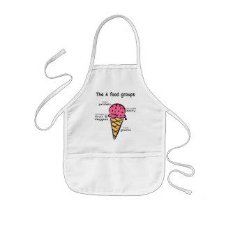 4 food groups child apron