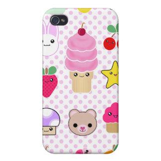 4 Fruit Teddy Cupcake Kawaii  iPhone 4 Case