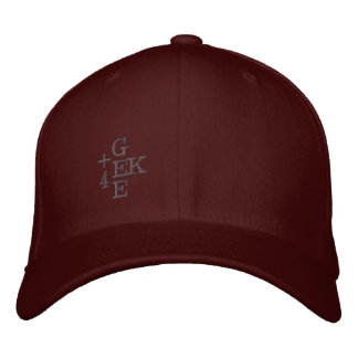 +4 GEEK EMBROIDERED BASEBALL CAPS