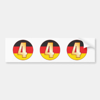 4 GERMANY Gold Bumper Sticker