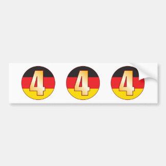4 GERMANY Gold Bumper Sticker