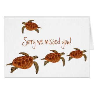 4 Hawksbill Turtles Card