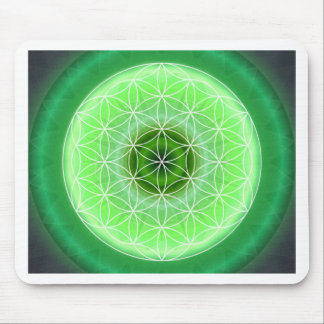 4 heart chakra green created by Tutti Mouse Pad