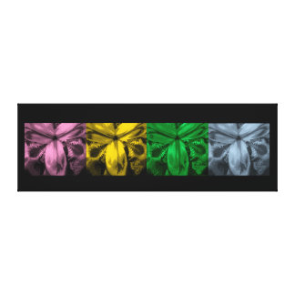 """4 Irises: Row of Blooms, """"Shades of Spring"""" Gallery Wrapped Canvas"""