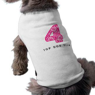 4-Lace-brightpink.png Sleeveless Dog Shirt