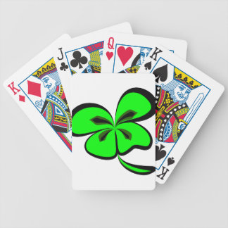 4 leaf clover bicycle playing cards