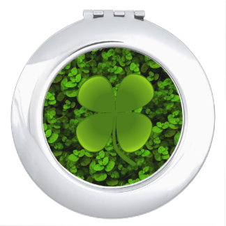 4 Leaf Clover Compact Mirror