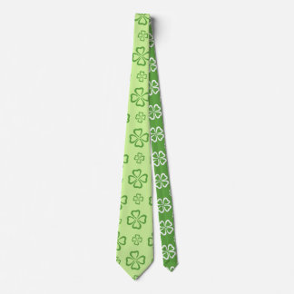 4-Leaf Clover For Luck Tie