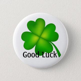 4 leaf clover, Good Luck! 6 Cm Round Badge