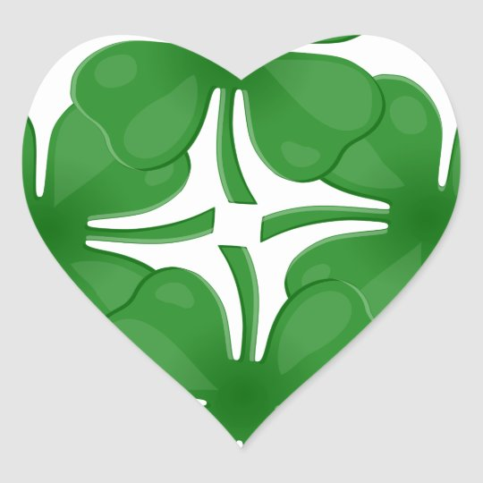 4 leaf clover heart sticker