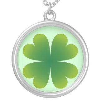 4 Leaf Clover Hearts Necklace