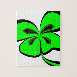 4 leaf clover jigsaw puzzle