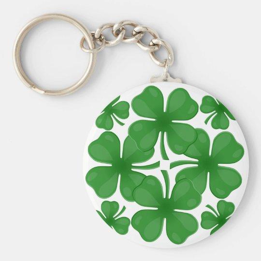 4 leaf clover key ring
