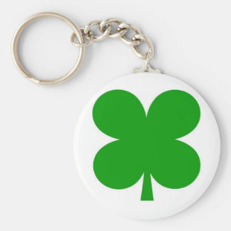 4 leaf clover keyring basic round button key ring
