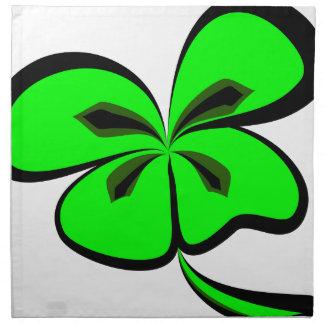 4 leaf clover napkin